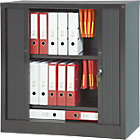 Armoire à rideaux Acier, PVC Porte rideaux 100 (H) x 100 (l) x 45 (P) cm Realspace
