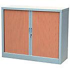 Armoire à rideaux Acier, PVC Porte rideaux 100 (H) x 120 (l) x 45 (P) cm Realspace Moyenne haute