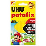 Pastilles de pâte adhésive repositionnable UHU Patafix Amovible Jaune   100 Unités