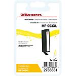 Cartouche jet d'encre Office Depot Compatible HP 903XL Jaune T6M11AE