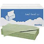 Essuie mains Niceday 1 épaisseur Pliage en V Vert   20 Unités de 250 Feuilles