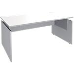 Bureau ajustable Adjust 1600 x 800 x 820 mm Blanc, gris aluminium