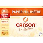 Papier millimétré Canson 90 g