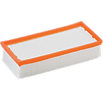 Filtre plissé Kärcher Plat Blanc, orange
