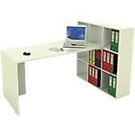 Ensemble bureau et bibliothèque Burocolor 169 (l) x 104 (P) x 104 (H) cm Blanc