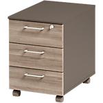Caisson mobile 3 tiroirs 3 Gautier Office 420 x 580 x 590 mm Imitation chêne