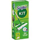Kit de nettoyage balai + 8 lingettes sèches Swiffer 24 x 20,7 cm Vert
