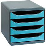 Module de classement Exacompta Classic 4 26,7 x 34,7 x 27,8 cm Noir, Bleu turquoise