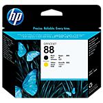 Tête d'impression HP D'origine 88 Noir, Jaune C9381A