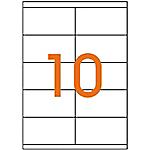 Etiquettes tout usage Multifunctional Blanc 105 x 57 mm 100 Feuilles de 10 Étiquettes