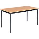 Table de réunion modulaire rectangulaire Domino 140 x 70 x 74 cm Imitation Hêtre