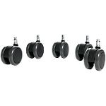 Roulettes pour sols durs WorkPro Signum 5,5cm (H) Noir   5 Unités