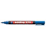 Marqueur permanent edding 370 Ogive Bleu