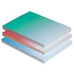 Couvertures covercolor ELAMI A4 Covercolor Bleu   100 Unités