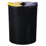 Kit de tri selectif Polypropylene CEP 16 + (2 x 7) L 26,6 x 26 x 33,7 cm Noir