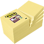 Notes adhésives Post it 48 x 48 mm Jaune   12 Unités de 90 Feuilles