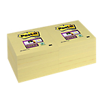 Notes adhésives Post it 76 x 76 mm Jaune   12 Unités de 90 Feuilles
