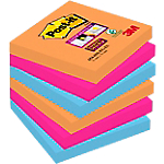 Notes adhésives Post it 76 x 76 mm Assortiment   6 Unités de 90 Feuilles