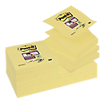 Notes adhésives Post it 76 x 76 mm Z Notes Super Sticky Jaune   12 Unités de 90 Feuilles