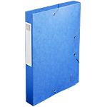 Boites de classement à élastique Exacompta Carte lustrée véritable 24 x 4 x 32 cm Bleu 10 Unités
