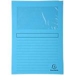 Chemise à fenêtre Exacompta Forever 22 x 31 cm Bleu 100 Unités