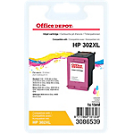 Cartouche jet d'encre Office Depot Compatible HP 302XL Cyan, Magenta, Jaune F6U67AE