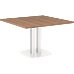 Table carrée Gautier Office Xenon 1 150 x 1 150 mm Imitation Merisier