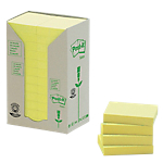 Notes adhésives Post it 51 x 38 mm Jaune   24 Unités de 100 Feuilles