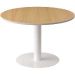 Table ronde Paperflow EasyOffice 1150 x 1150 x 750 mm Imitation hêtre, blanc