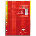 Copies doubles perforées grands carreaux Clairefontaine A4 4916 200 Pages   100 Feuilles