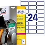 Étiquettes ultra résistantes AVERY Zweckform L7912 10 A4 Blanc 63,5 x 33,9 mm 10 Feuilles de 24 Étiquettes