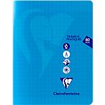 Cahier grands carreaux piqué Polypro Clairefontaine Mimesys TP 170 x 220 mm Coloris aléatoire 80 Pages   40 Feuilles