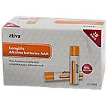 Piles alcalines Ativa Longlife AAA   28 Unités