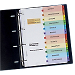 Intercalaires Avery Ready Index A4 Assortiment 12 intercalaires Perforé Carte lustrée 1 à 12