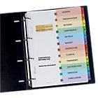 Intercalaires Avery Ready Index A4 Assortiment 12 intercalaires Perforé Carte lustrée 1 à 12