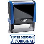 Tampon à formules commerciale Trodat Printy   X Bleu