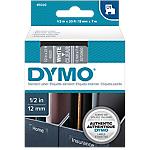 Cassette de ruban à étiqueter DYMO D1 45020 12 mm x 7 m Blanc sur transparent