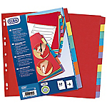 Intercalaires réinscriptibles ELBA A4 Assortiment 6 intercalaires Carton