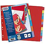 Intercalaires réinscriptibles ELBA A4 Assortiment 6 intercalaires Carton