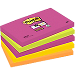 Notes adhésives Post it 127 x 76 mm Assortiment   5 Unités de 90 Feuilles