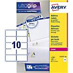 Étiquettes d'adresses Avery L7173 100 A4 Blanc 99,1 x 57 mm 100 Feuilles de 10 Étiquettes