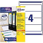 Étiquettes pour classeur AVERY Zweckform A4+ 61 mm Blanc 25 Feuilles de 4 Étiquettes