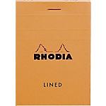 Bloc de bureau Rhodia A7 Quadrillé Orange   80 Feuilles