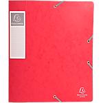 Boites de classement à élastique Exacompta Carte lustrée véritable 24 x 32 cm Rouge 10 Unités