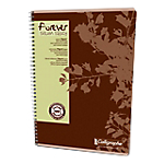 Cahier recyclé   Calligraphe   Forever   petits carreaux   reliure intégrale   A4   180 pages