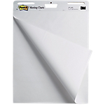 2 Blocs de 30 feuilles repositionnable blanc uni   Post it®   Meeting chart   63.5 x 77.4 cm
