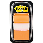 Marque Pages Post it Souples 2,54 x 4,32 cm Orange   50 Bandes