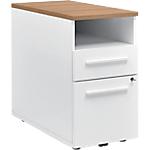 Poste de travail Gautier Office TopLine 800 x 420 x 740 mm Imitation merisier, blanc