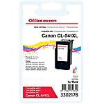 Cartouche jet d'encre Office Depot Compatible Canon CL 541 XL Cyan, Magenta, Jaune