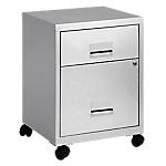 Caisson mobile Pierre Henry Combi 2 tiroirs 40 (L) x 32,5 (l) x 56,3 (H) cm Aluminium